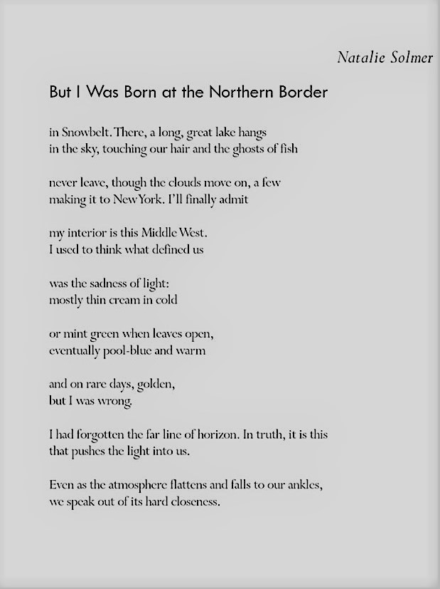 But I Was Born At The Northern Border